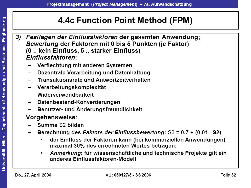 4.4c Function Point Method (FPM)