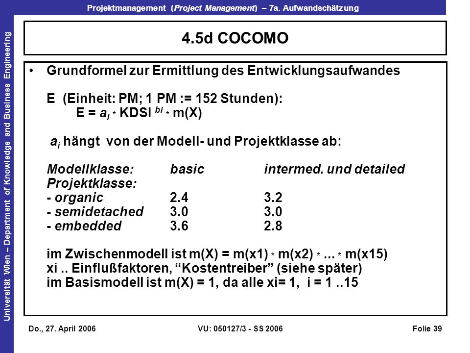 4.5d COCOMO