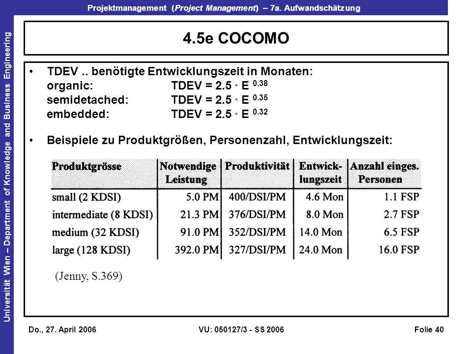 4.5e COCOMO