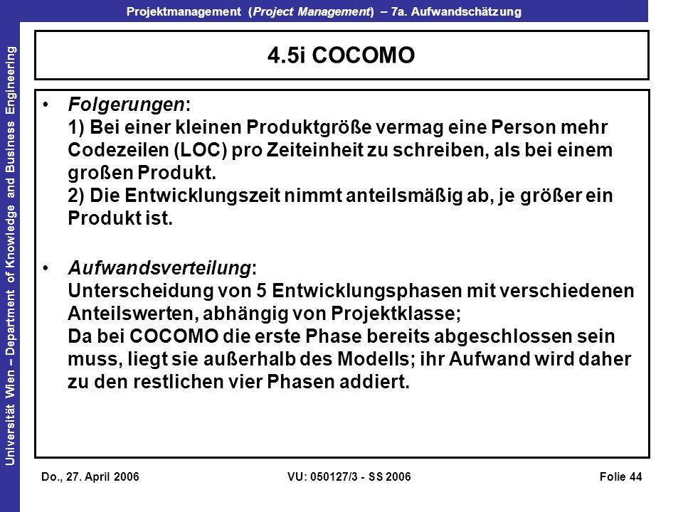 4.5i COCOMO