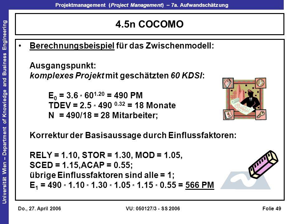 4.5n COCOMO