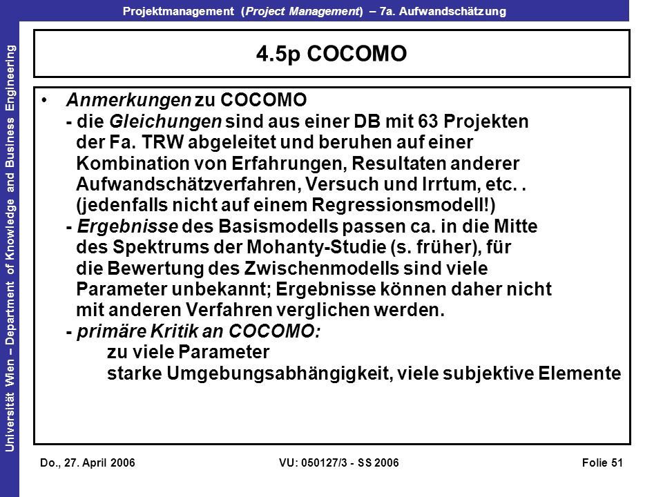 4.5p COCOMO