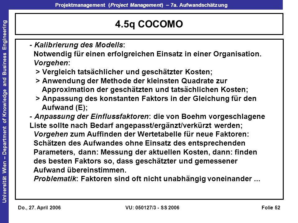 4.5q COCOMO