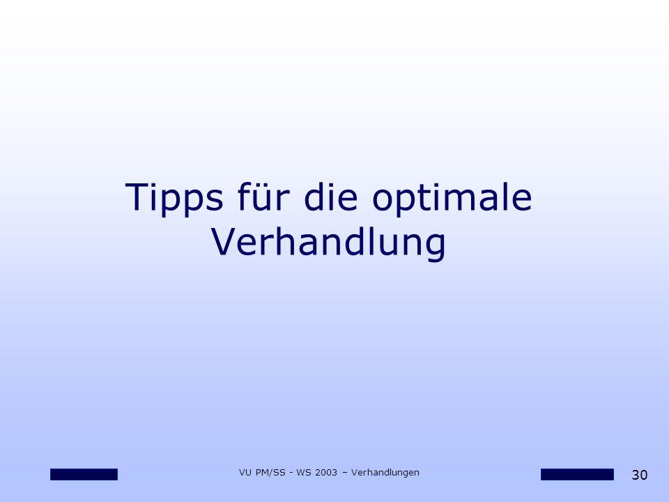 Tipps für die optimale Verhandlung