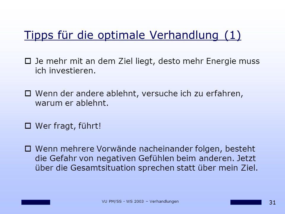 Tipps für die optimale Verhandlung (1)