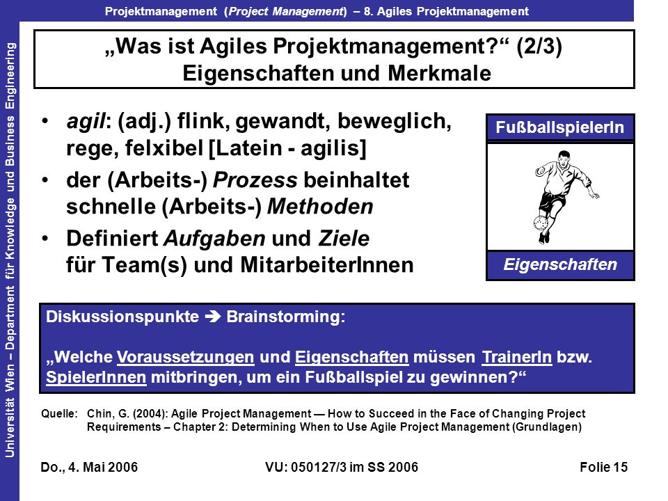 """Was ist Agiles Projektmanagement (2/3) Eigenschaften und Merkmale"