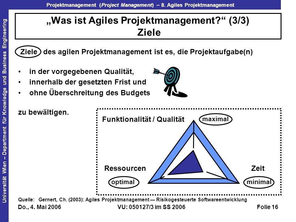 """""""Was ist Agiles Projektmanagement (3/3) Ziele"""