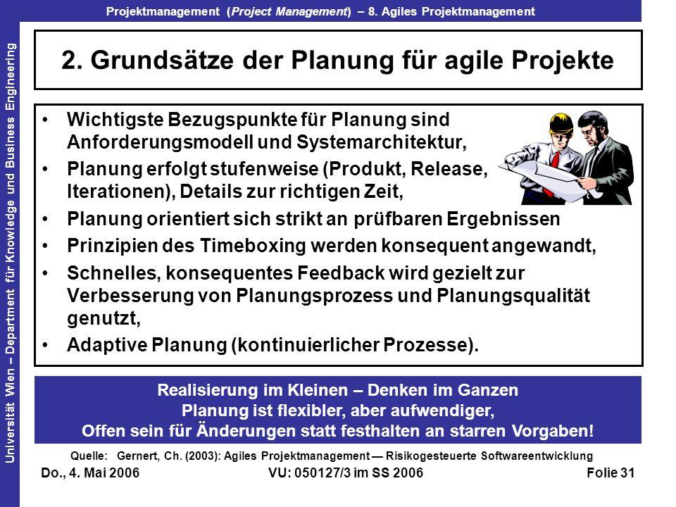 2. Grundsätze der Planung für agile Projekte