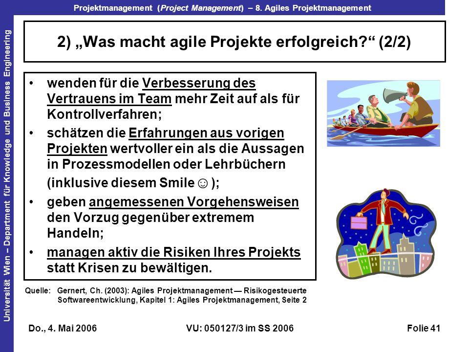 """2) """"Was macht agile Projekte erfolgreich (2/2)"""