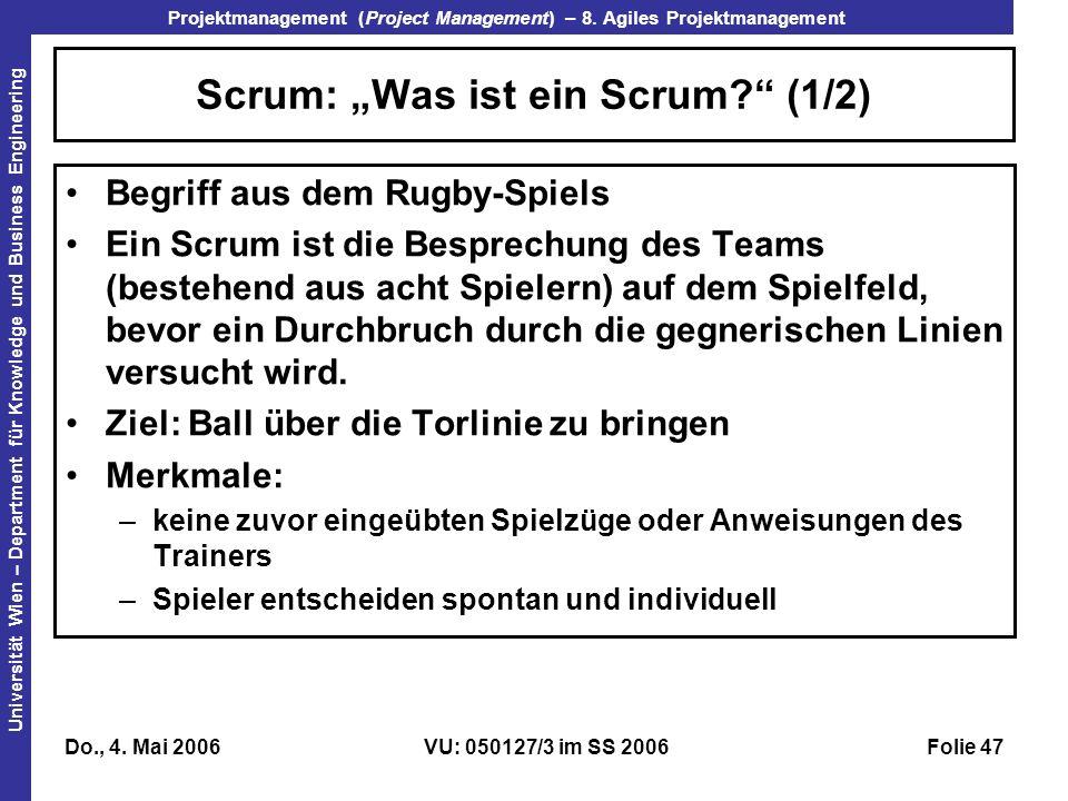 """Scrum: """"Was ist ein Scrum (1/2)"""