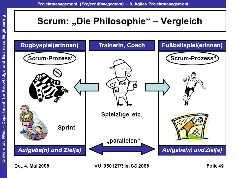 """Scrum: """"Die Philosophie – Vergleich"""