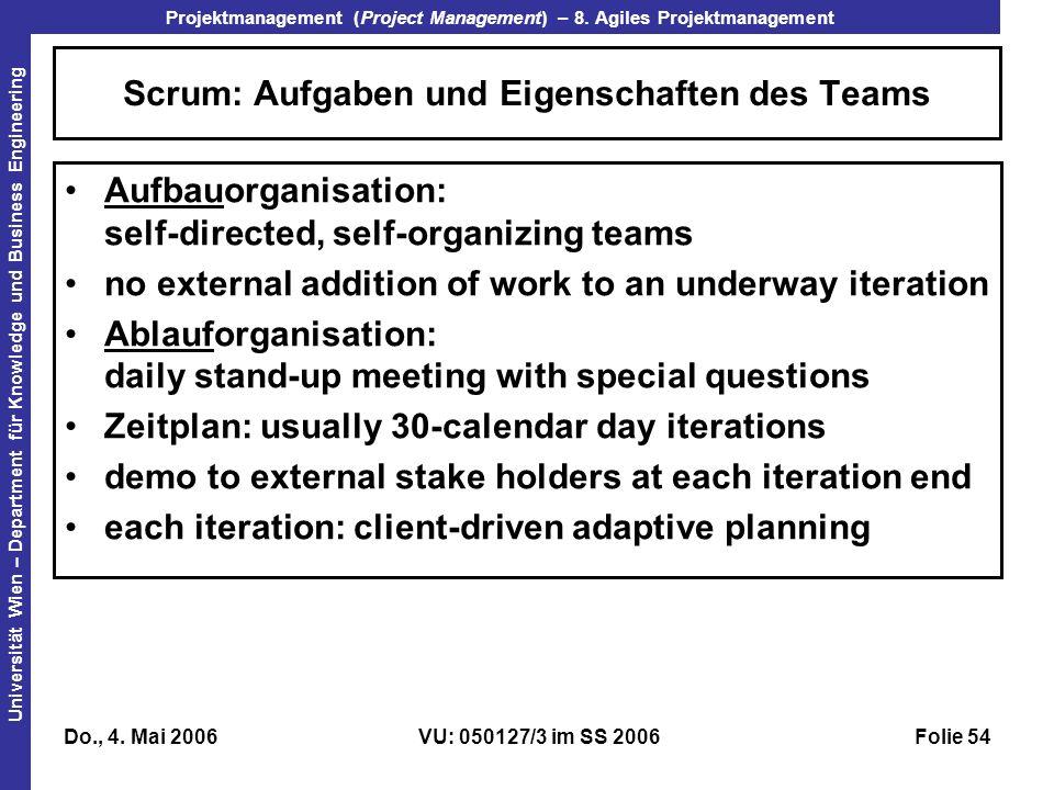 Scrum: Aufgaben und Eigenschaften des Teams