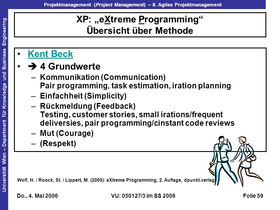 """XP: """"eXtreme Programming Übersicht über Methode"""