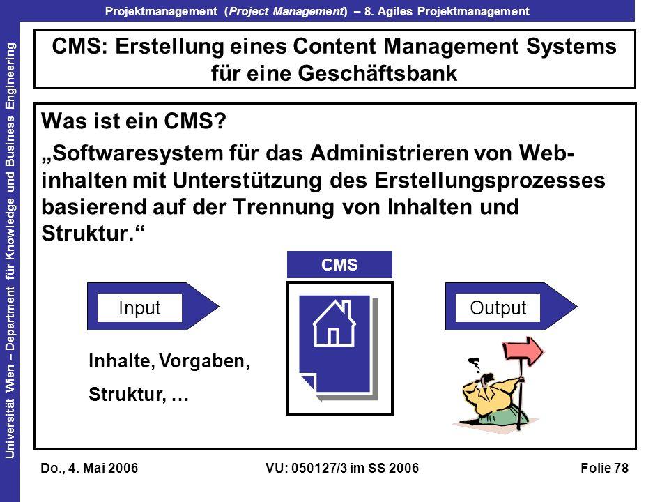 CMS: Erstellung eines Content Management Systems für eine Geschäftsbank