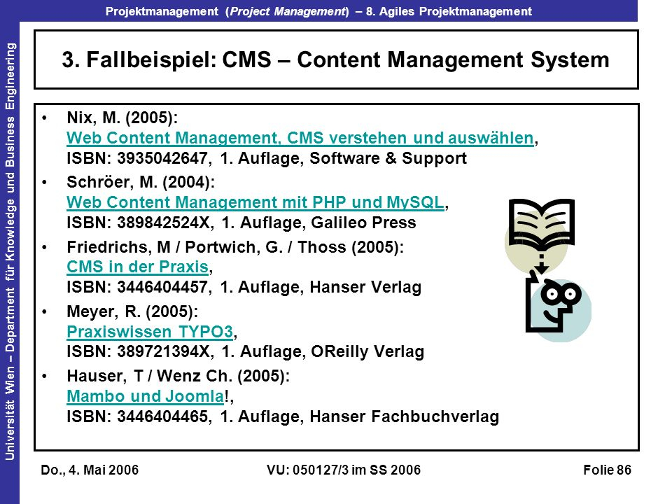 3. Fallbeispiel: CMS – Content Management System