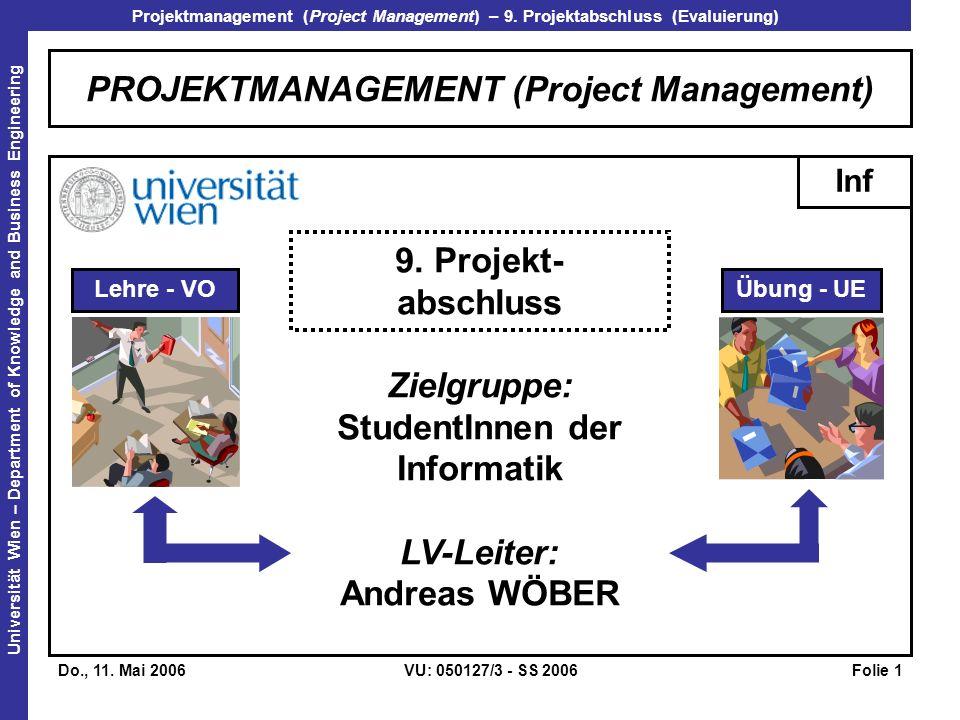 PROJEKTMANAGEMENT (Project Management)