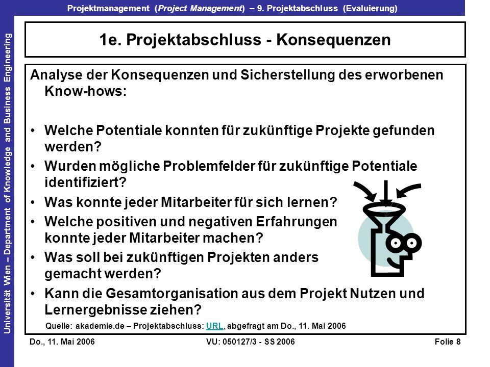 1e. Projektabschluss - Konsequenzen