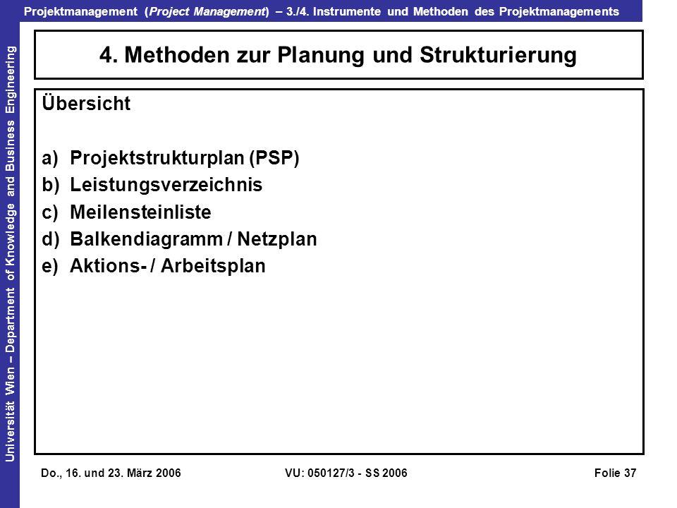 4. Methoden zur Planung und Strukturierung