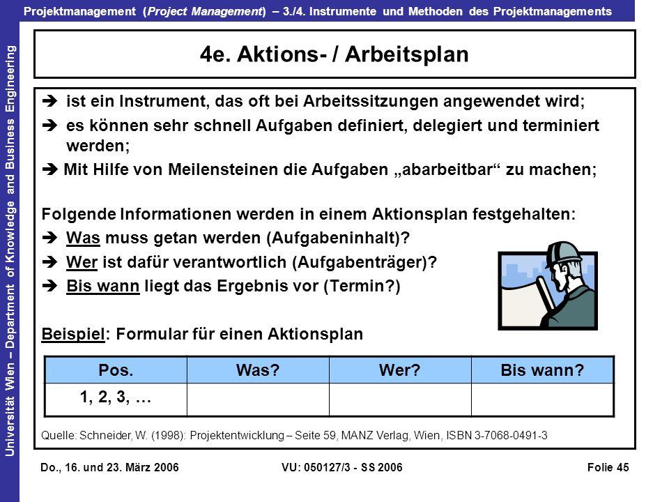 4e. Aktions- / Arbeitsplan