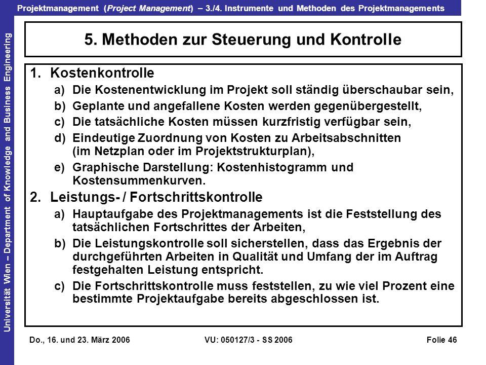5. Methoden zur Steuerung und Kontrolle