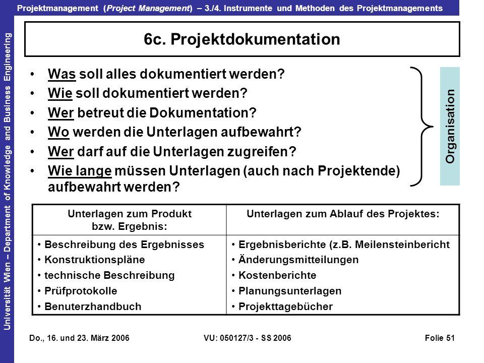 6c. Projektdokumentation