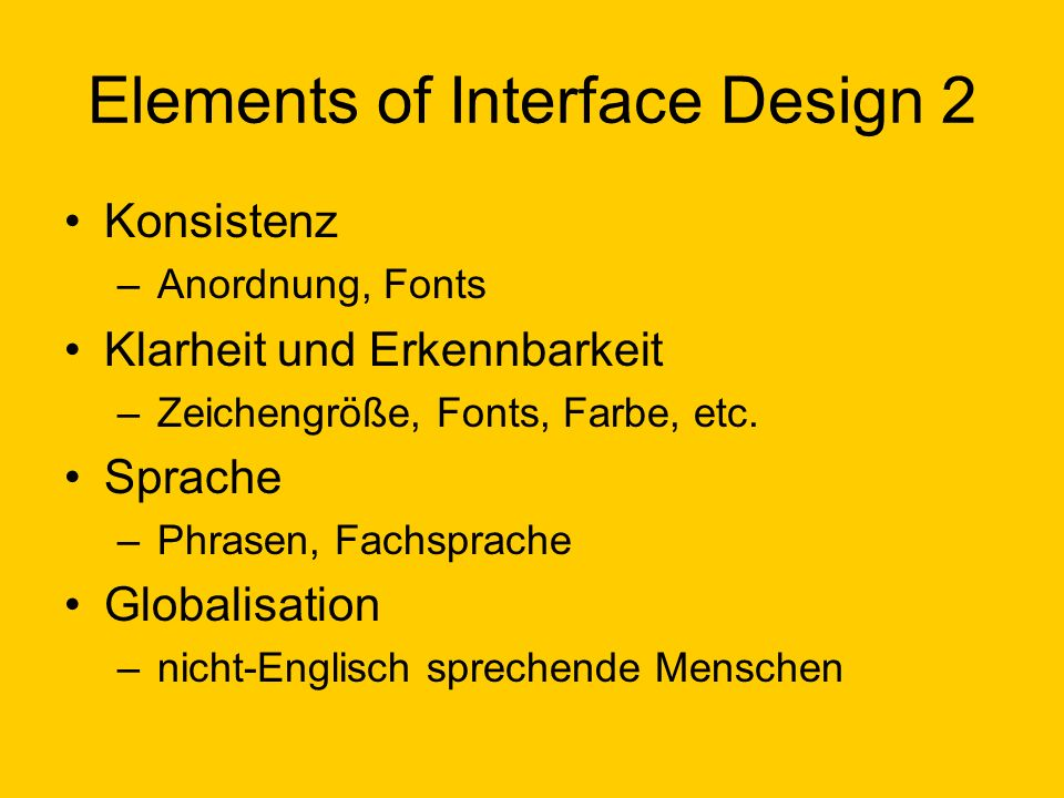 Elements of Interface Design 2