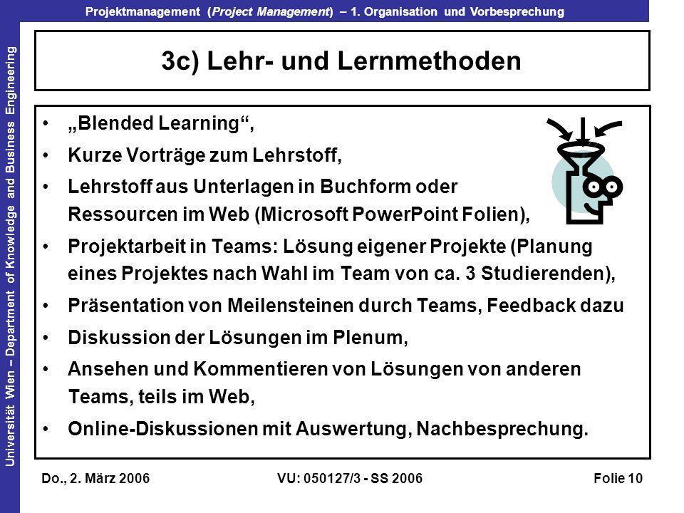 3c) Lehr- und Lernmethoden
