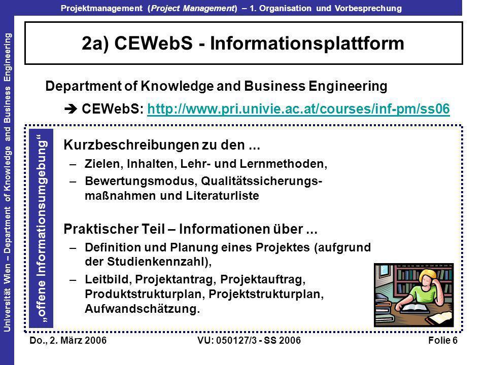 2a) CEWebS - Informationsplattform