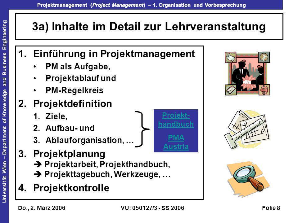 3a) Inhalte im Detail zur Lehrveranstaltung