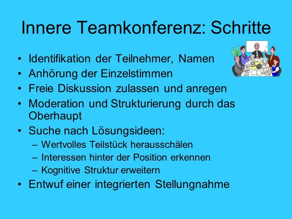 Innere Teamkonferenz: Schritte