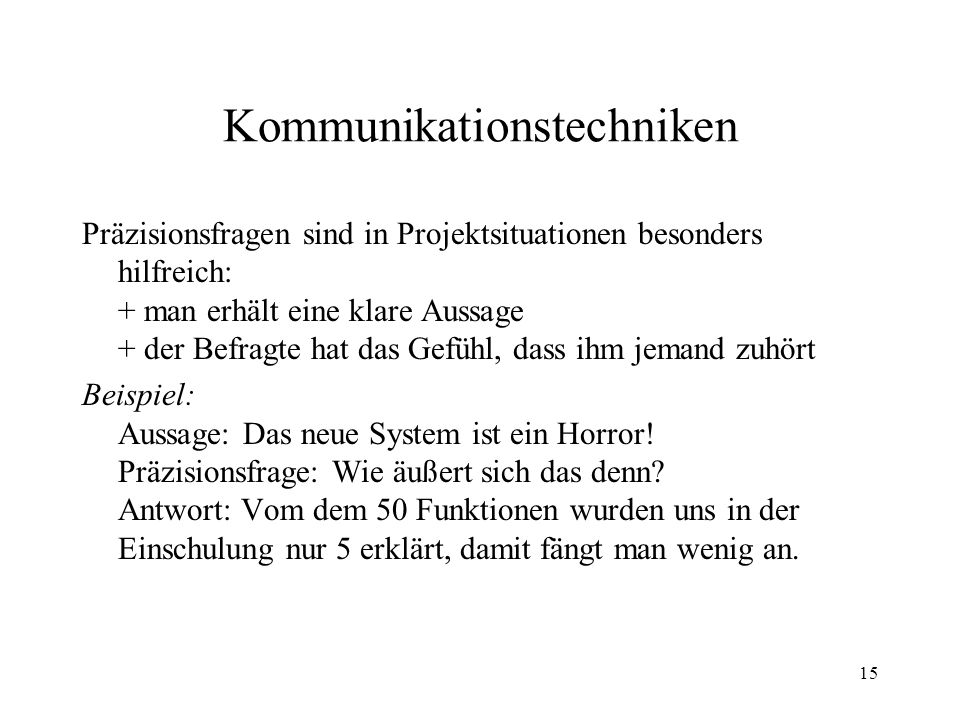 Kommunikationstechniken