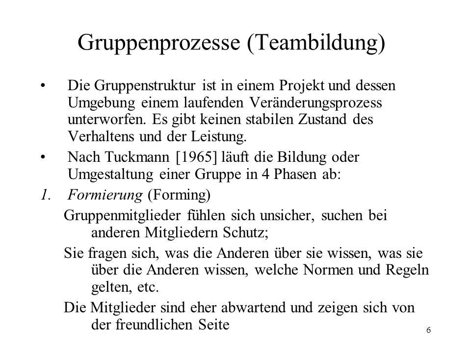 Gruppenprozesse (Teambildung)