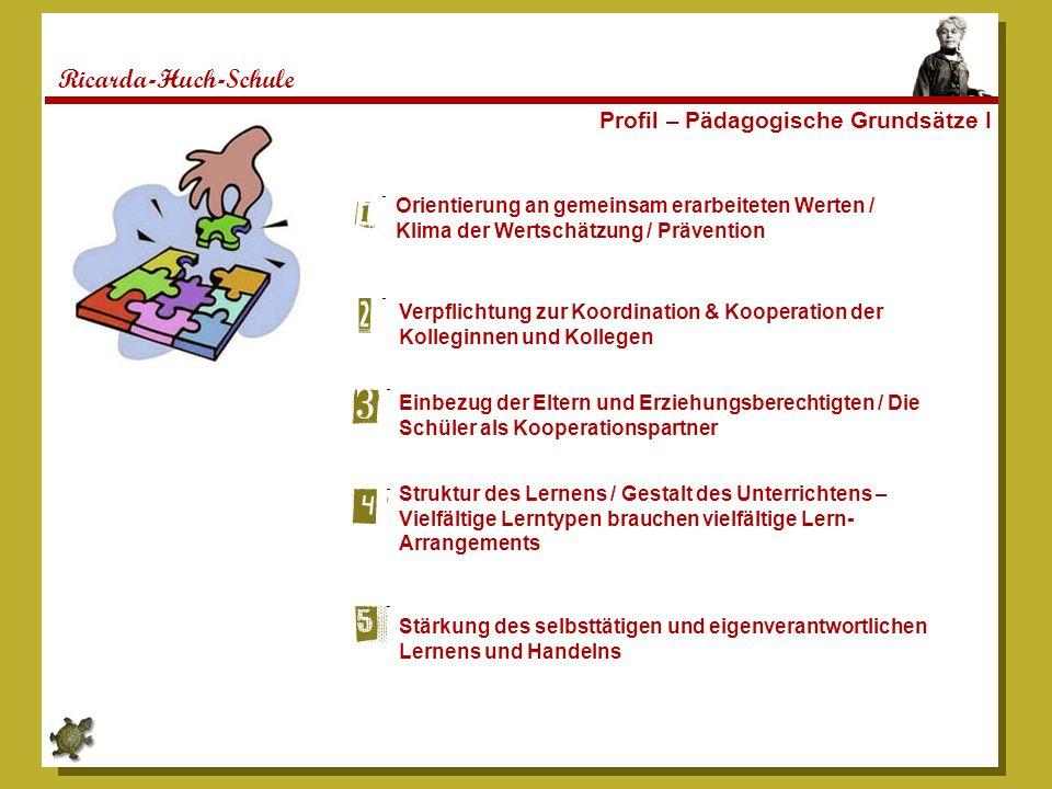 Ricarda-Huch-Schule Profil – Pädagogische Grundsätze I