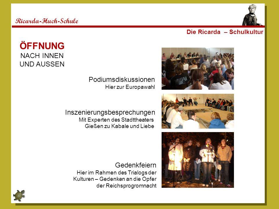 ÖFFNUNG Ricarda-Huch-Schule NACH INNEN UND AUSSEN Podiumsdiskussionen