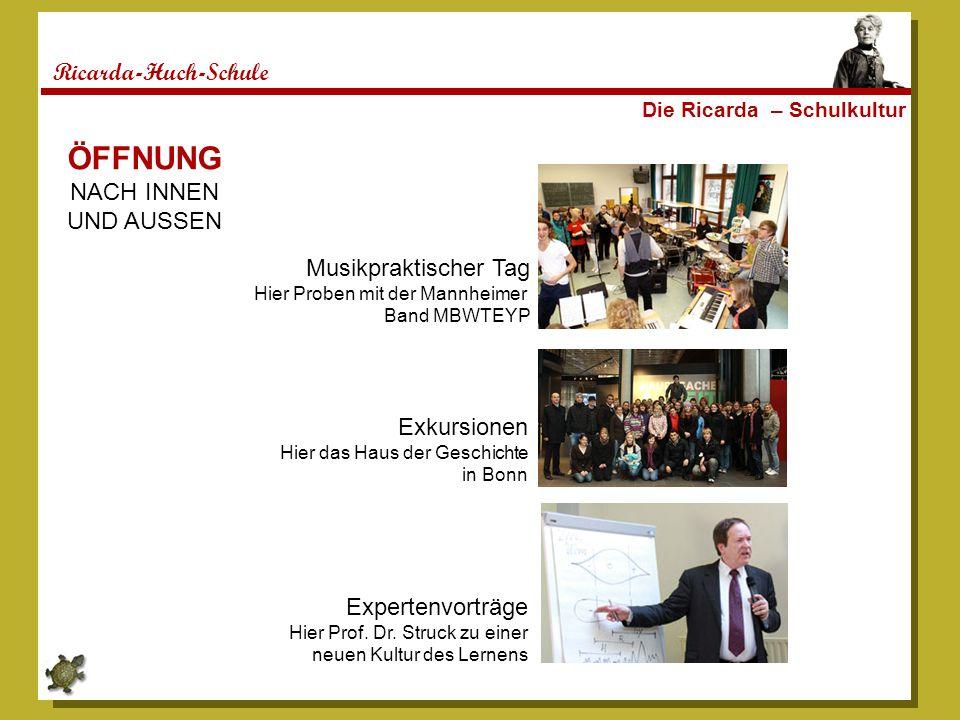 ÖFFNUNG Ricarda-Huch-Schule NACH INNEN UND AUSSEN Musikpraktischer Tag