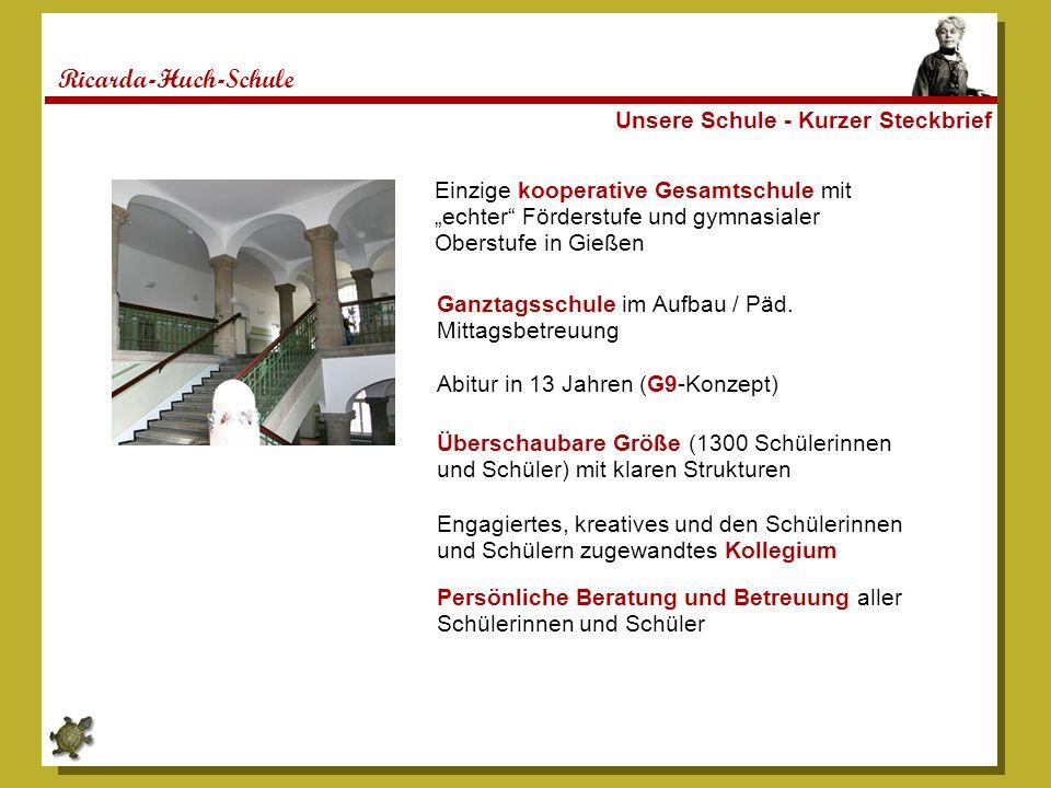 Ricarda-Huch-Schule Unsere Schule - Kurzer Steckbrief
