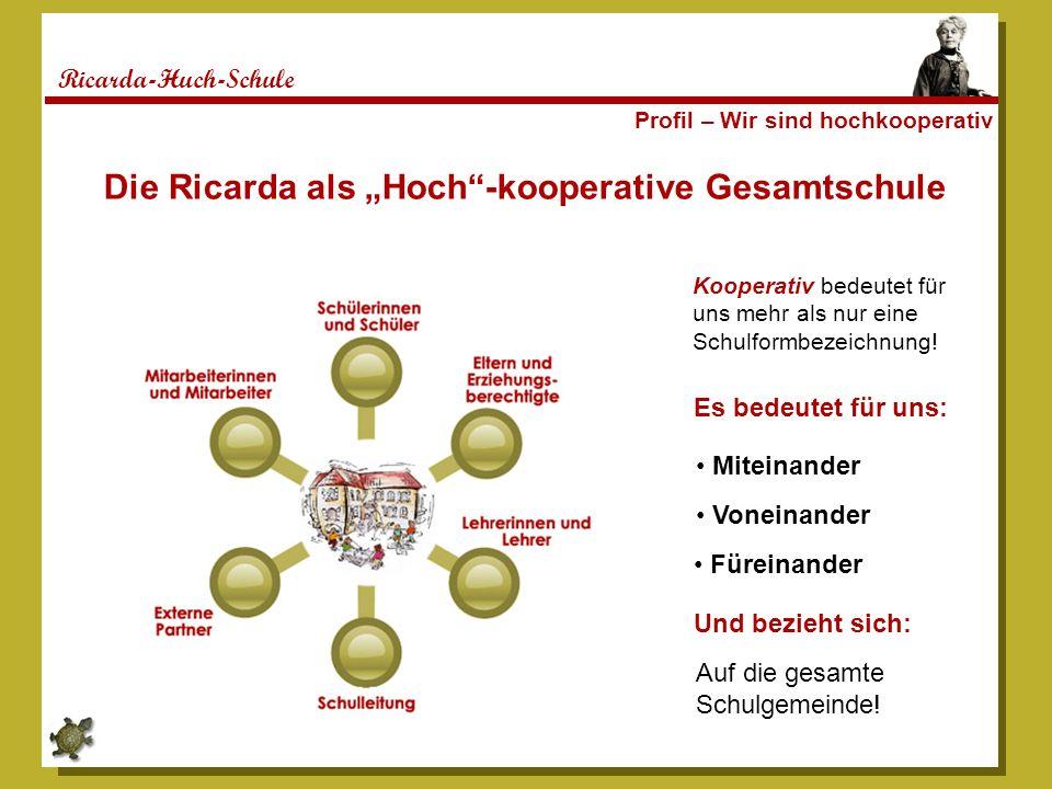 "Die Ricarda als ""Hoch -kooperative Gesamtschule"