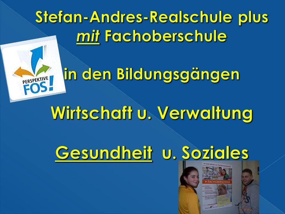 Stefan-Andres-Realschule plus mit Fachoberschule in den Bildungsgängen Wirtschaft u.