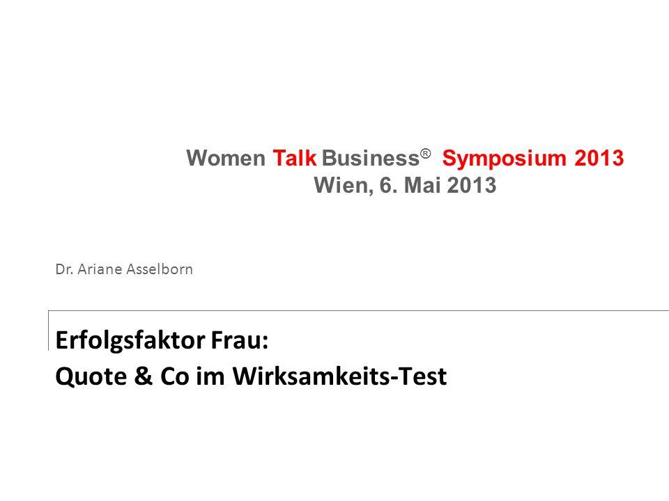 Erfolgsfaktor Frau: Quote & Co im Wirksamkeits-Test