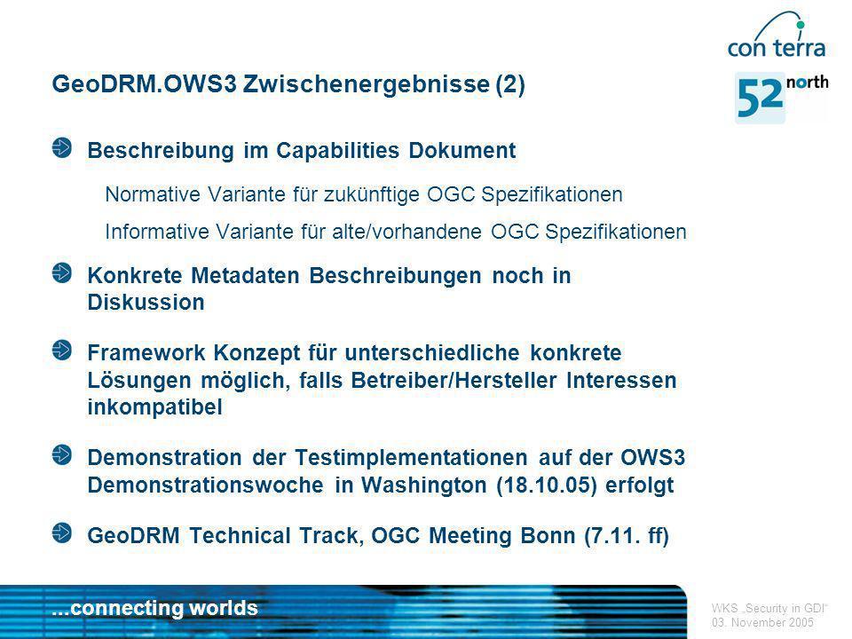 GeoDRM.OWS3 Zwischenergebnisse (2)