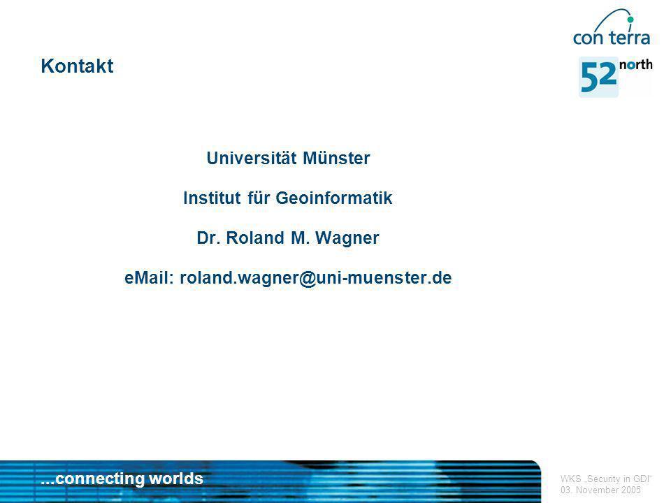 Institut für Geoinformatik eMail: roland.wagner@uni-muenster.de