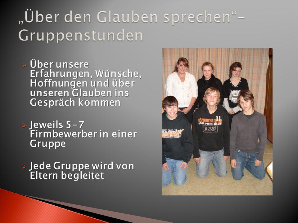 """""""Über den Glauben sprechen - Gruppenstunden"""