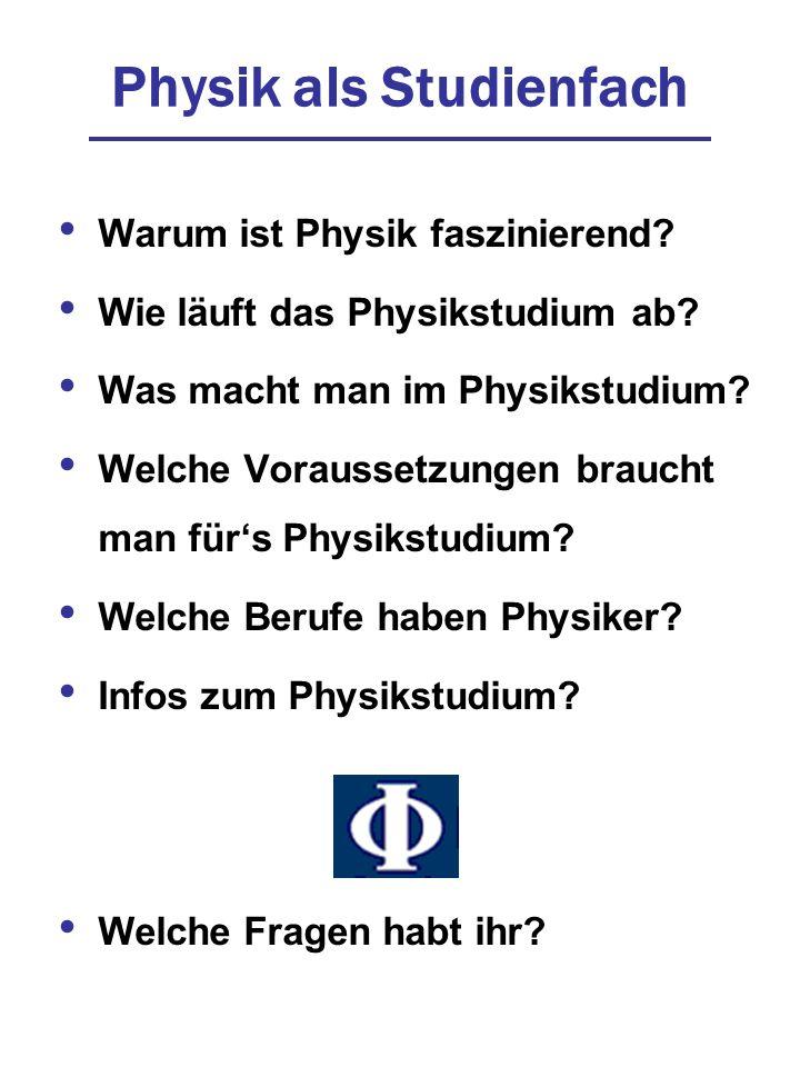 Physik als Studienfach