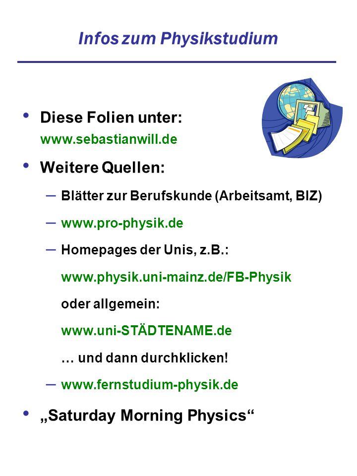Infos zum Physikstudium