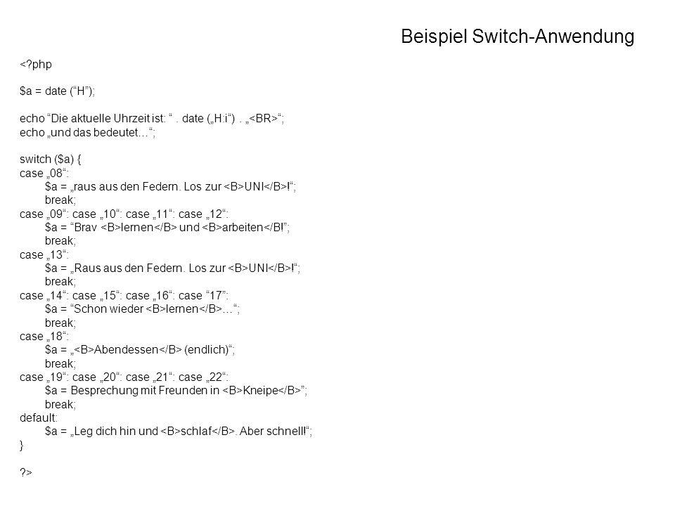 Beispiel Switch-Anwendung