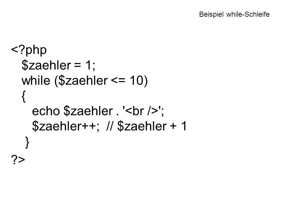 Beispiel while-Schleife