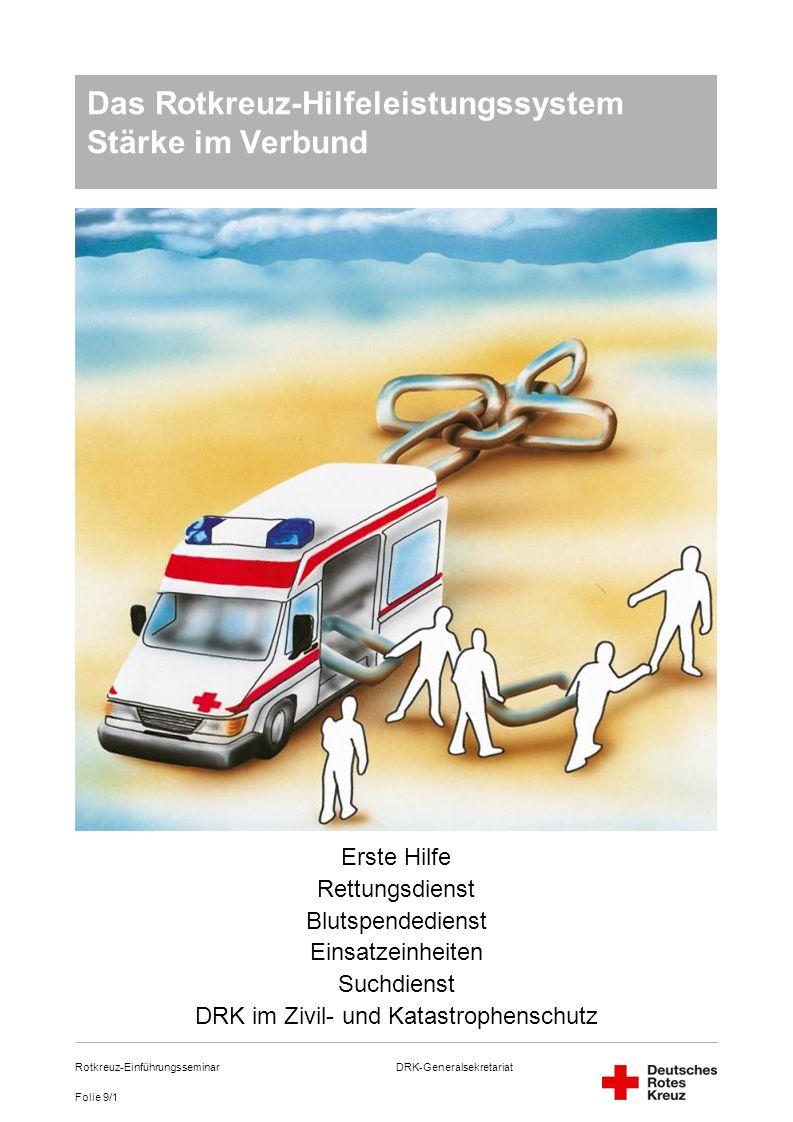 Das Rotkreuz-Hilfeleistungssystem Stärke im Verbund