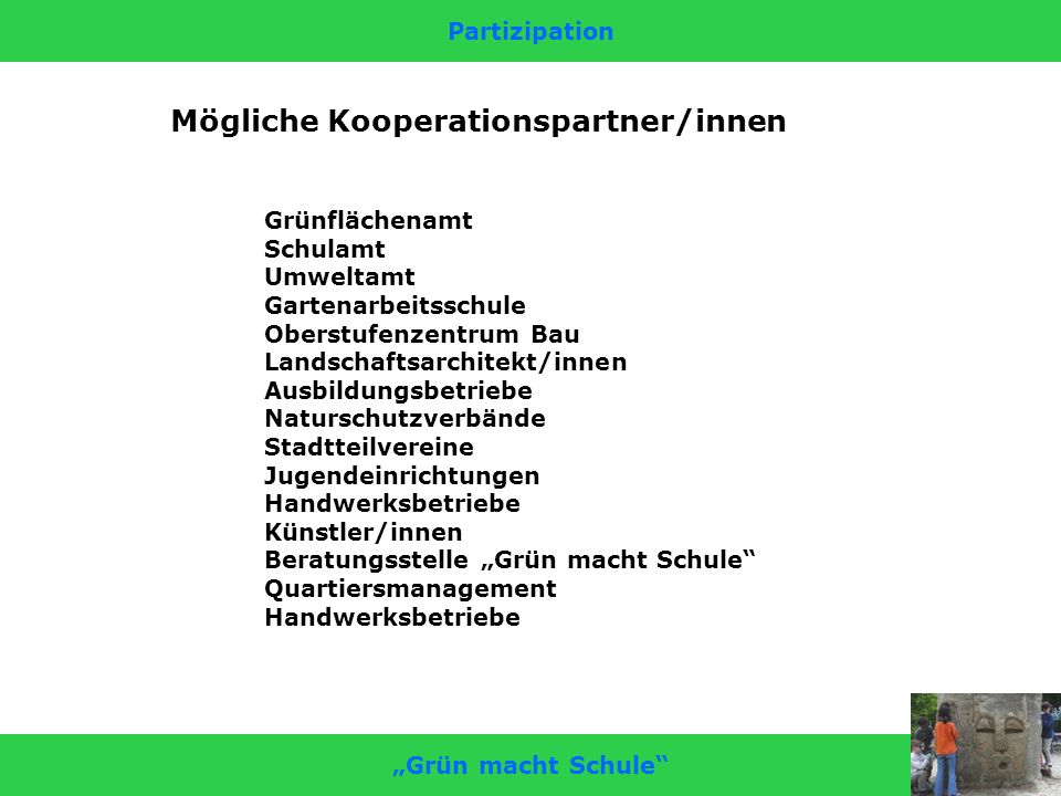 Mögliche Kooperationspartner/innen