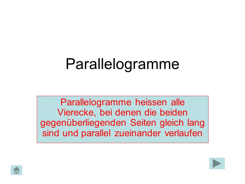 Parallelogramme