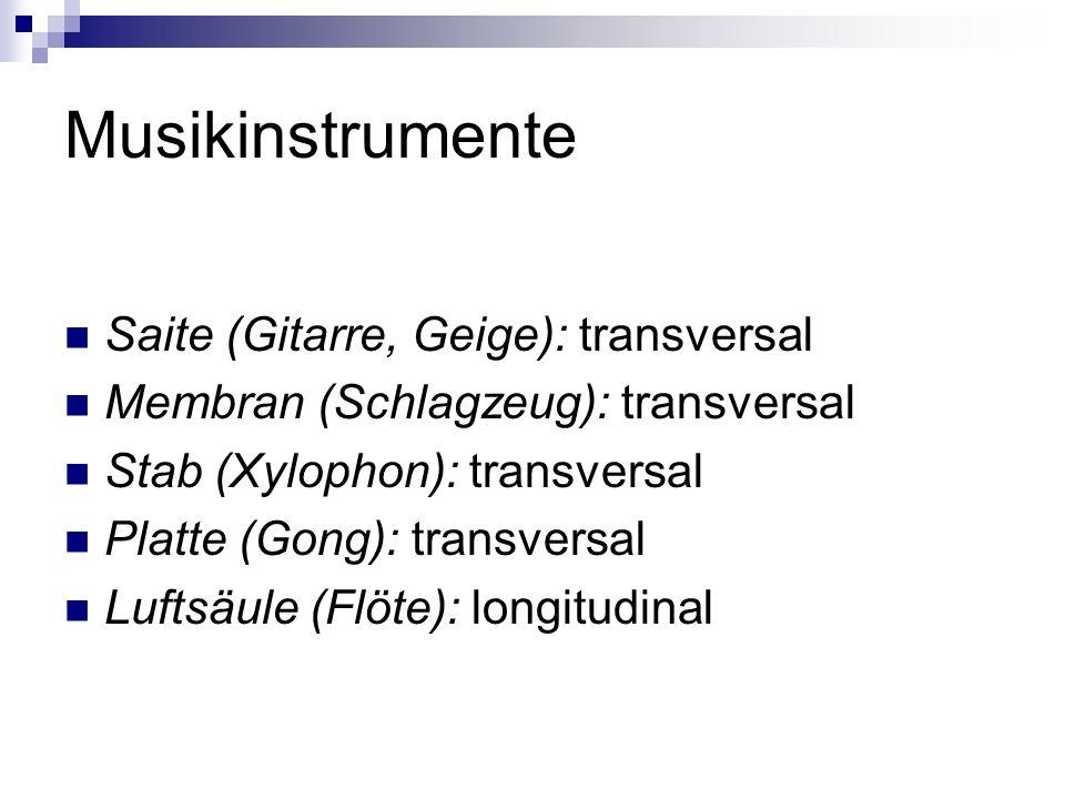 Musikinstrumente Saite (Gitarre, Geige): transversal